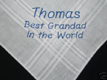 PERSONALISED MENS HANDKERCHIEF